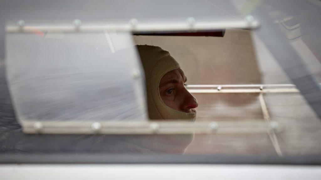 Александр Титков перед стартом